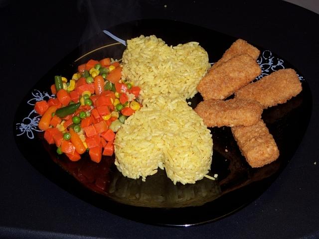 żółty ryż
